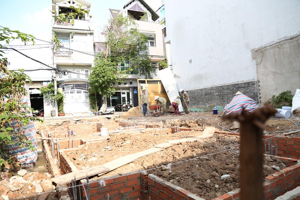 Giao đoạn xây hộc đổ đà kiềng nối móng cọc view 3