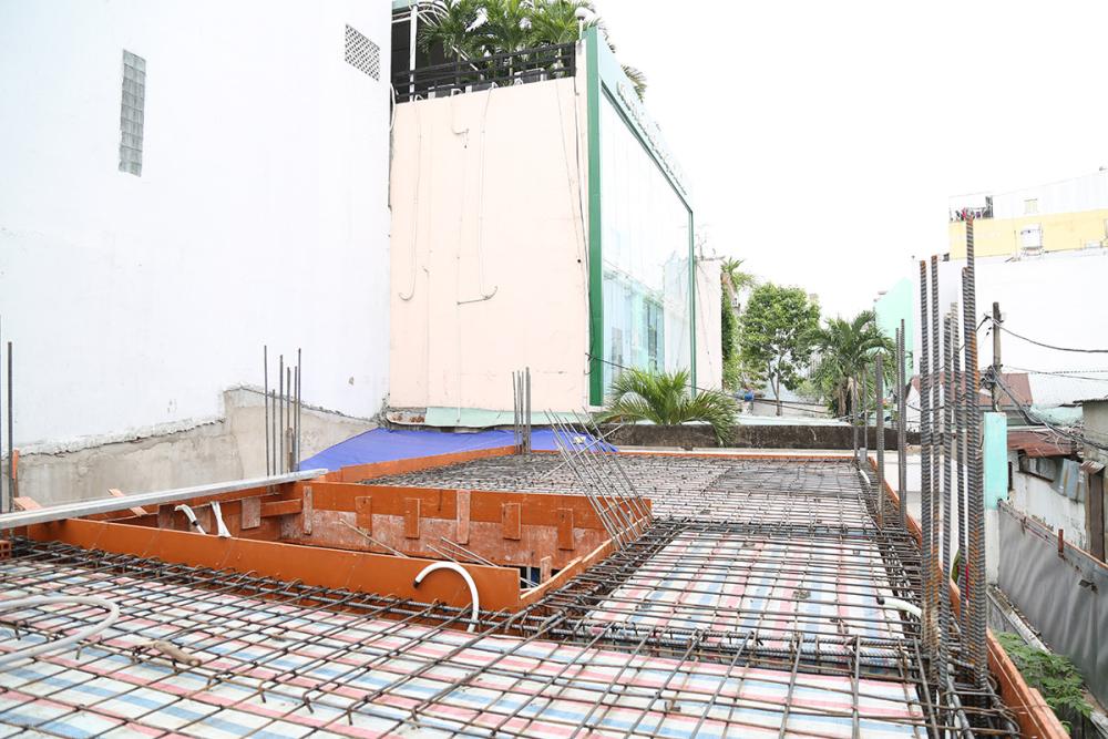 Mặt bằng sàn tầng 1 trước khi đổ bê tông view 1