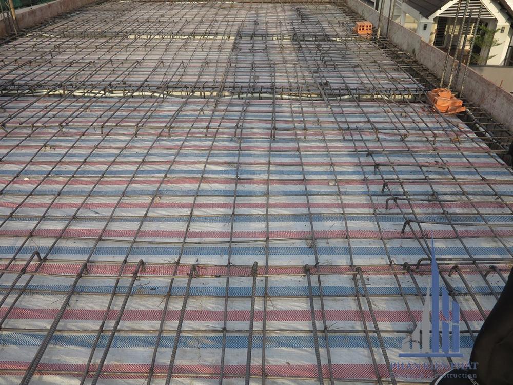 Tổng thể mặt bằn sắt sàn tầng sau khi nghiệm thu