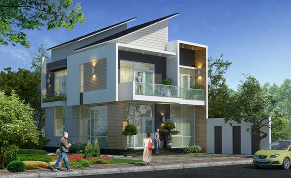 tham-khao, biet-thu - Thiết kế nhà đẹp 2 tầng - xu hướng thiết kế hiện đại