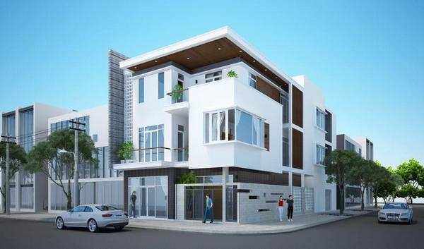 tham-khao, biet-thu - Thiết kế nhà lô góc 2 mặt tiền - sự lựa chọn đáng giá