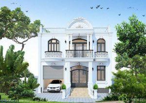 tham-khao, biet-thu - Mặt tiền nhà đẹp thiết kế sang trọng của mẫu biệt thự hiện đại