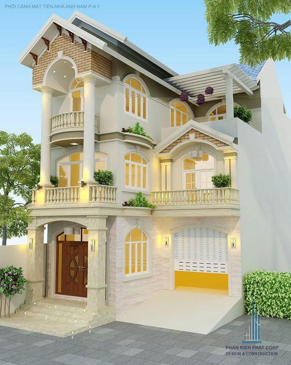 mẫu biệt thự đẹp 3 tầng