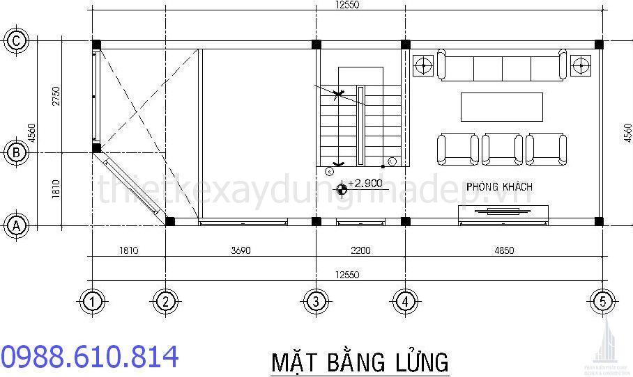 - Công trình Biệt thự phố 4,5x12,5m tại Tân Bình