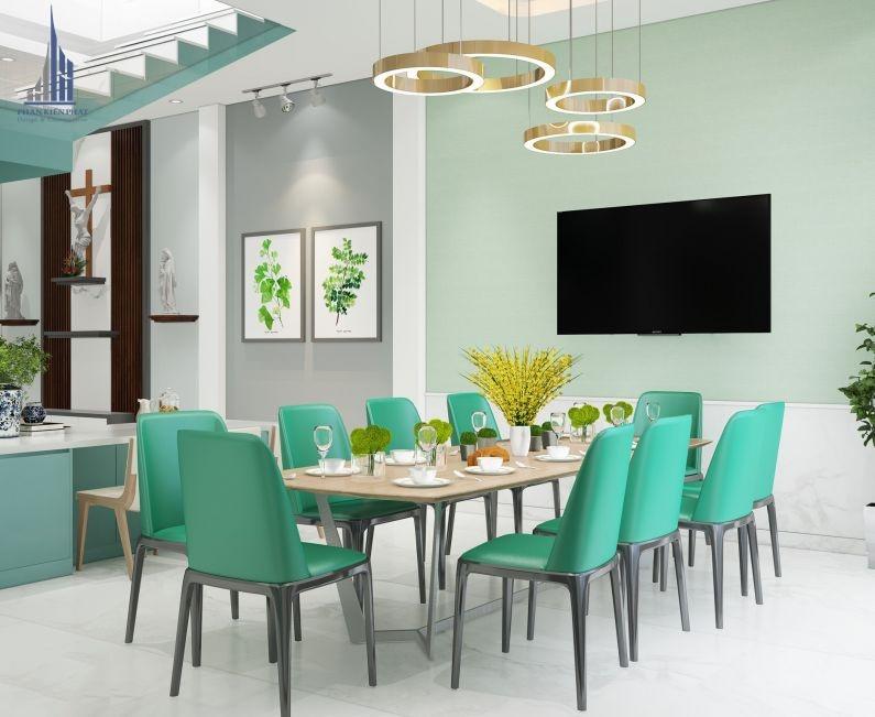Thiết kế nội thất kết hợp phòng ăn và nhà bếp