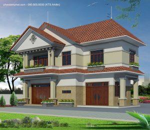 Biet Thu 2 Tang 11x6m Mai Thai 4568