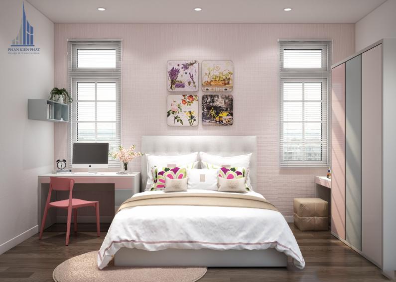 Thiết kế nội thất biệt thự vườn 2 tầng hiện đại – không gian phòng ngủ thoáng và rộng