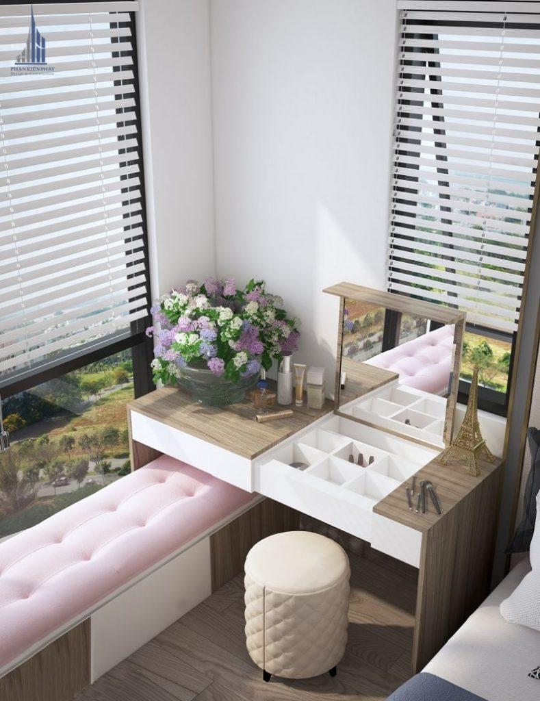 Thiết kế bàn trang điểm nhỏ gọn trong phòng