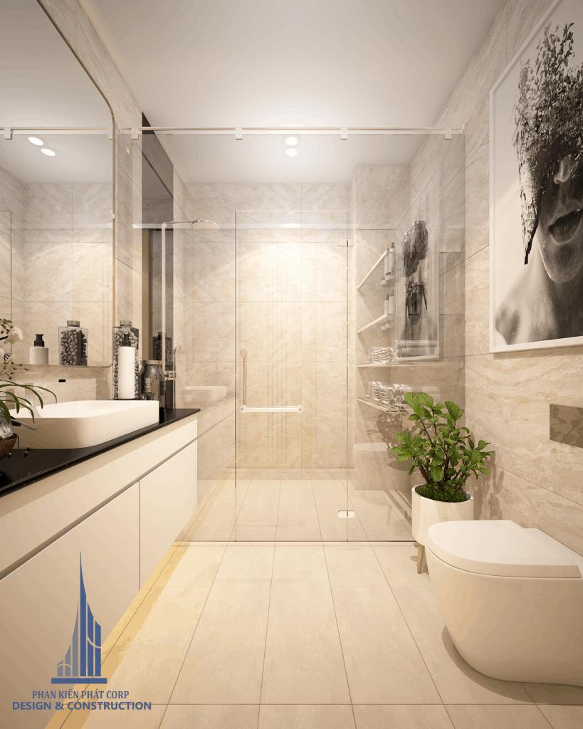 Mẫu thiết kế phòng vệ sinh đẹp cho không gian nội thất biệt thự phố