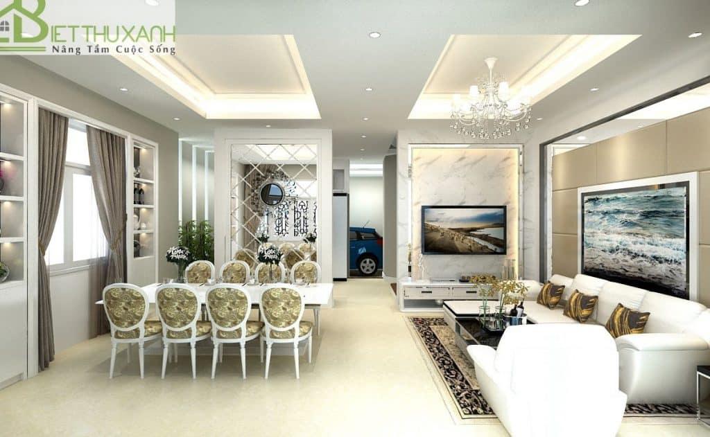 Nội thất đồng điệu tạo nên sự duyên dáng và tinh tế cho không gian sống – Gắn kết không gian phòng ăn và phòng khách trong thiết kế nội thất