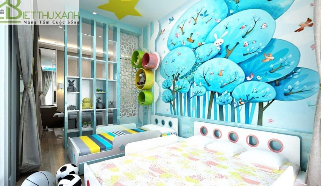 Thiết kế nội thất phòng master và phòng con