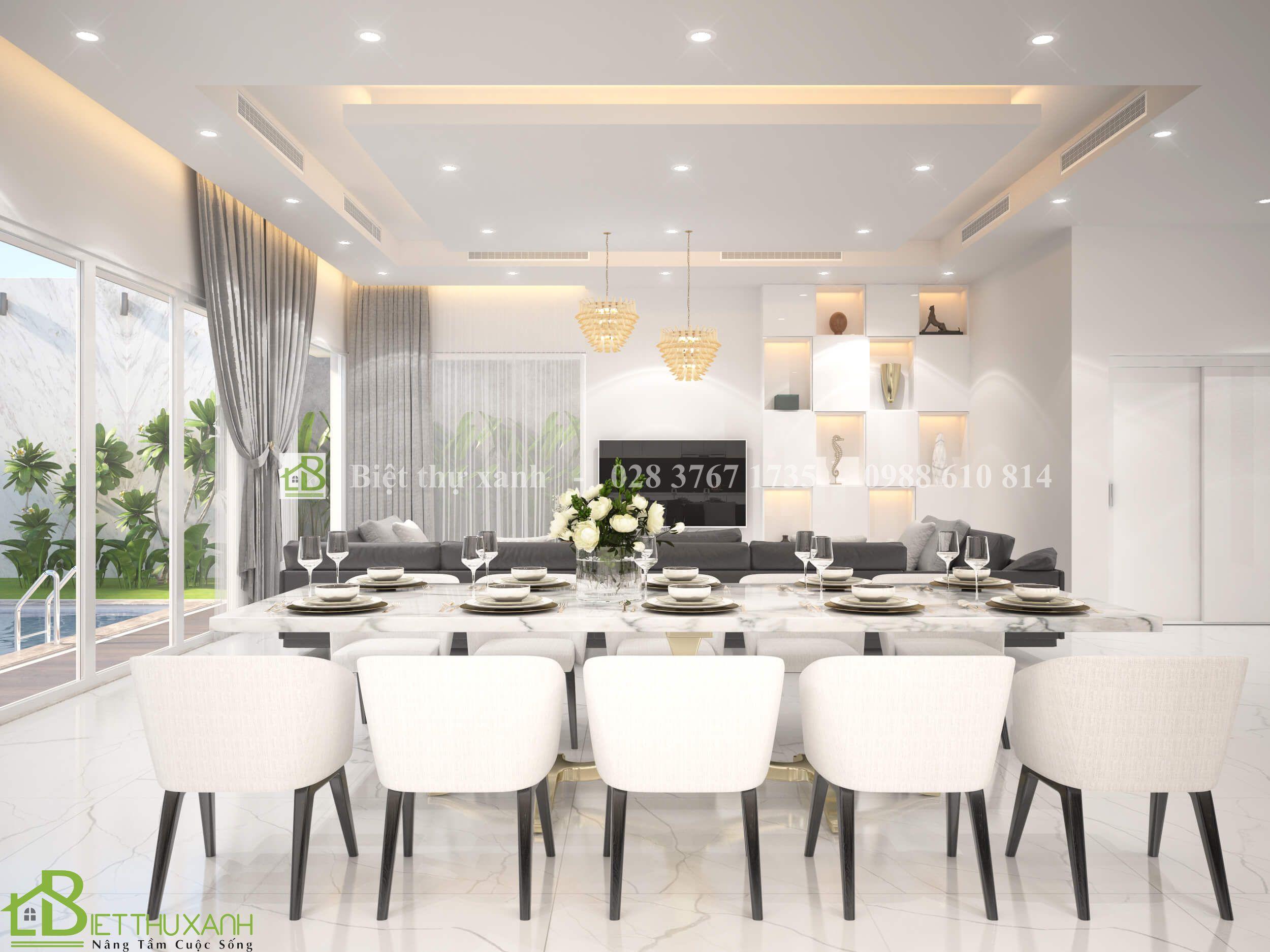 Thiet Ke Noi That Phong Khách 4- Biệt thự hiện đại