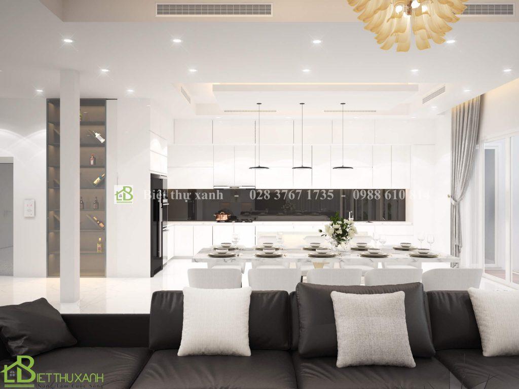 Thiet Ke Noi That Phong Khách 5- Biệt thự hiện đại