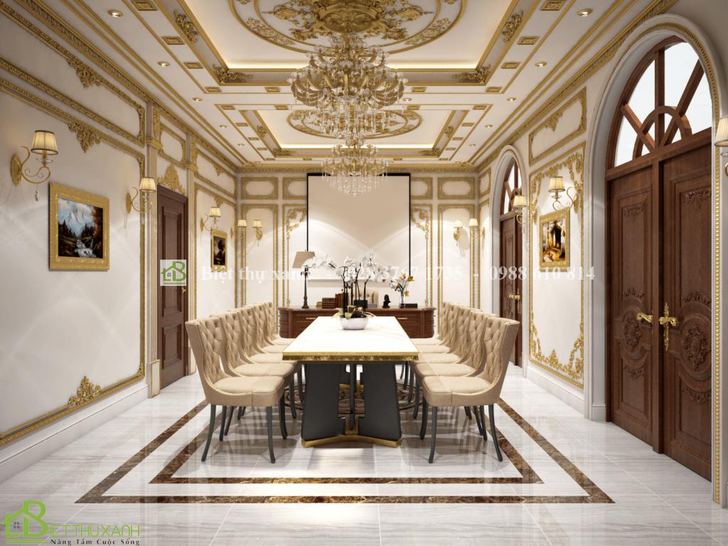 Thiet Ke Noi That Phong Hop 1 - Thiết kế biệt thự cổ điển đẹp