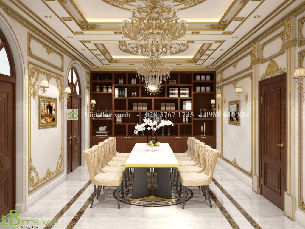 Thiet Ke Noi That Phong Hop 2 - Thiết kế biệt thự cổ điển đẹp