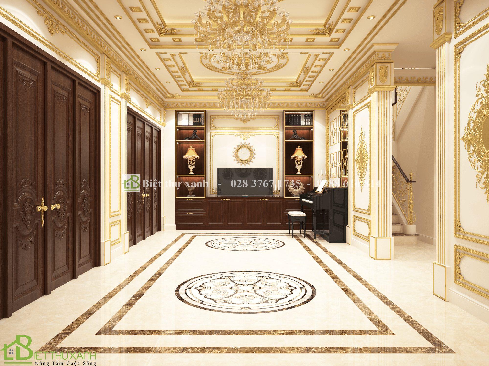 Mẫu biệt thự cổ điển 5 tầng - nội thất phòng khách