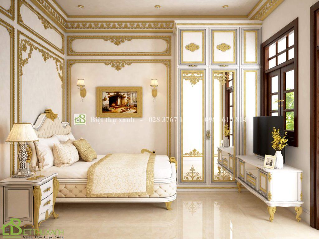 Thiet Ke Noi That Phong Ngu 2 1 - Thiết kế biệt thự cổ điển đẹp