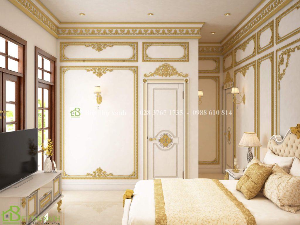 Thiet Ke Noi That Phong Ngu 2 3 - Thiết kế biệt thự cổ điển đẹp
