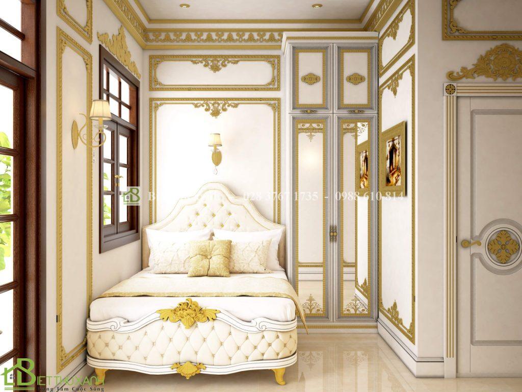 Thiet Ke Noi That Phong Ngu 3 1 - Thiết kế biệt thự cổ điển đẹp
