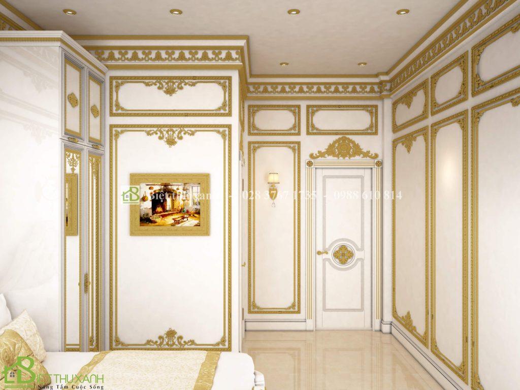Thiet Ke Noi That Phong Ngu 3 2 - Thiết kế biệt thự cổ điển đẹp