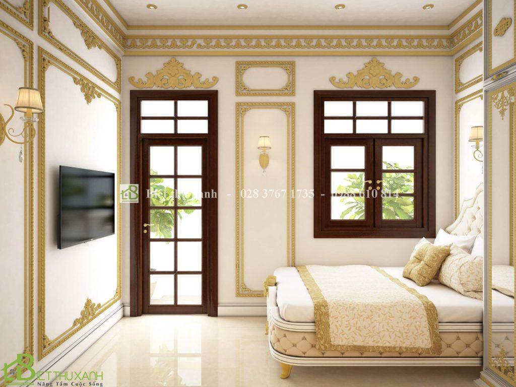 Thiet Ke Noi That Phong Ngu 3 3 - Thiết kế biệt thự cổ điển đẹp