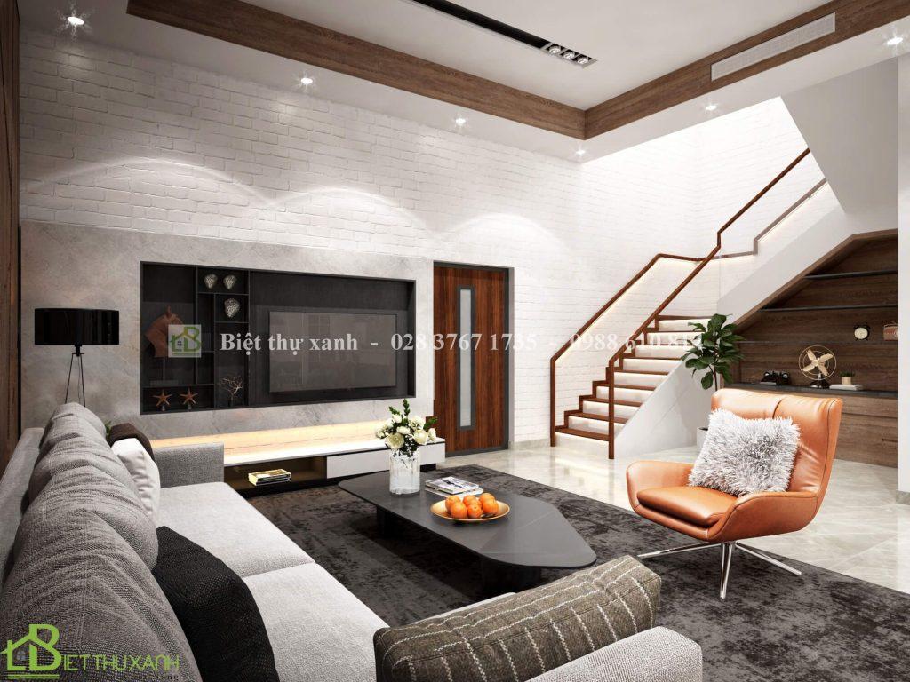 Thiet Ke Phong Khach Trong Mau Biet Thu Tan Co Dien 3- mấu biệt thự tân cổ điển mái thái- mẫu biệt thự tân cổ điển mái thái